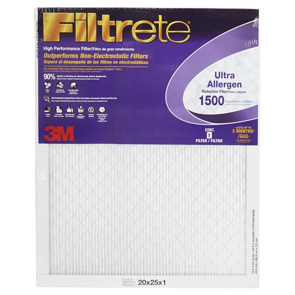 filtrete ultra allergen reduction filters 20 in x 25 in x 1 in - Filtrete Air Filter