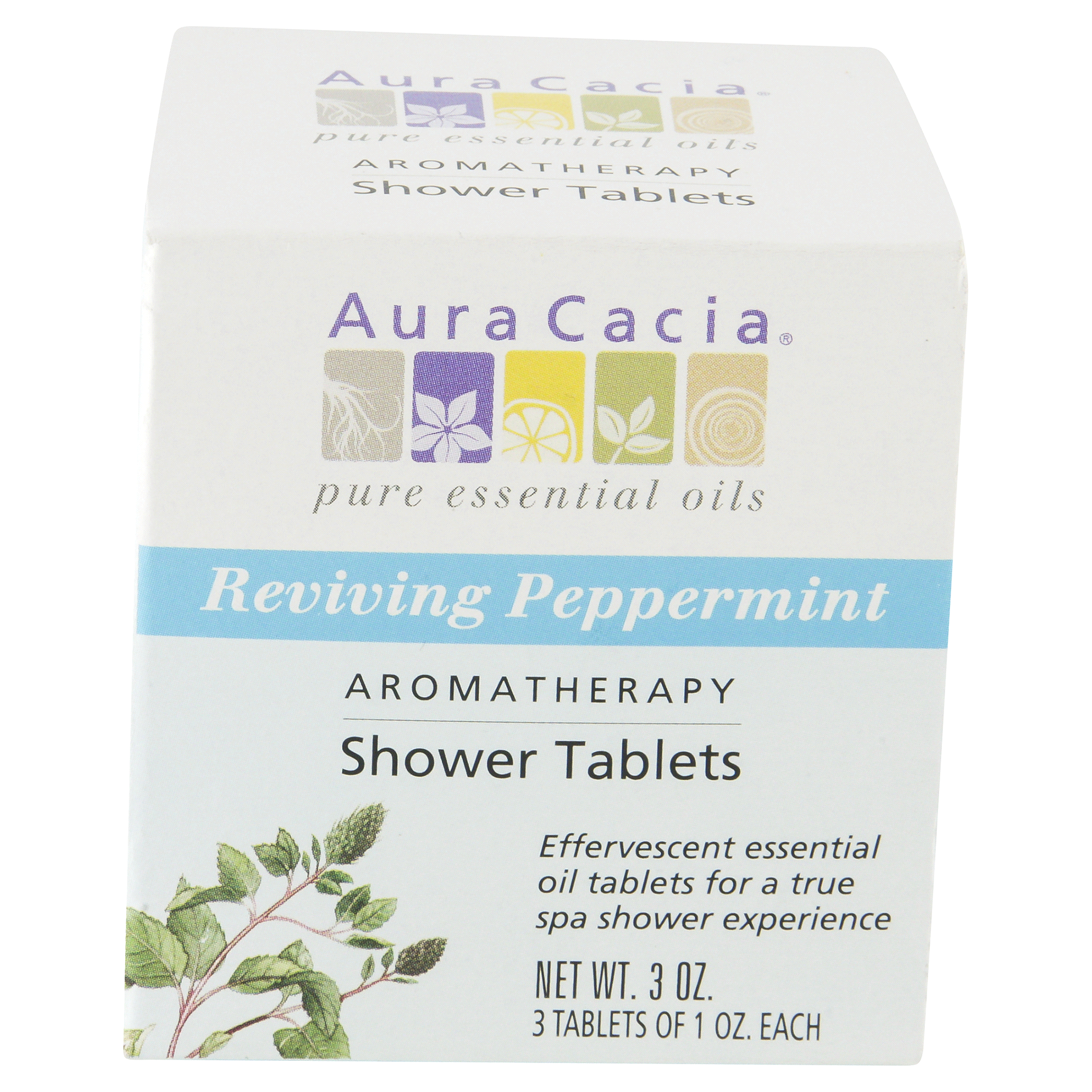 Aura Cacia Pure Essential Oils Aromatherapy Shower Tablets Reviving Peppermint 3 Oz Meijer