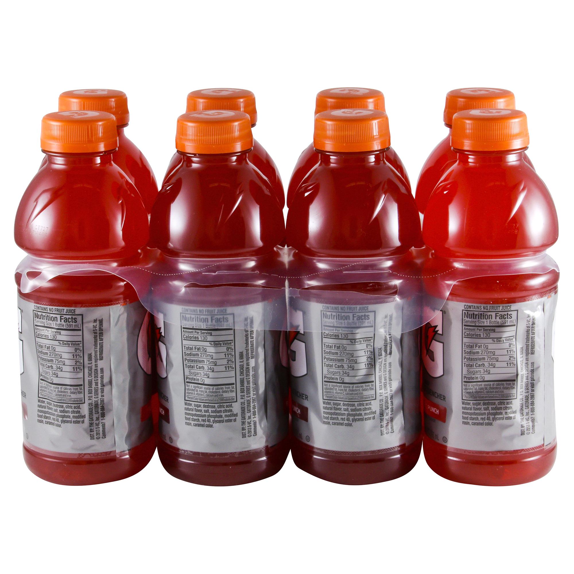 gatorade thirst quencher fruit punch 8 pk/20 oz   meijer