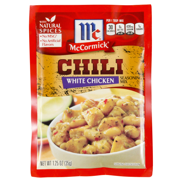 mccormick white chicken chili seasoning mix 1 25 oz $ 1 09 ea ...