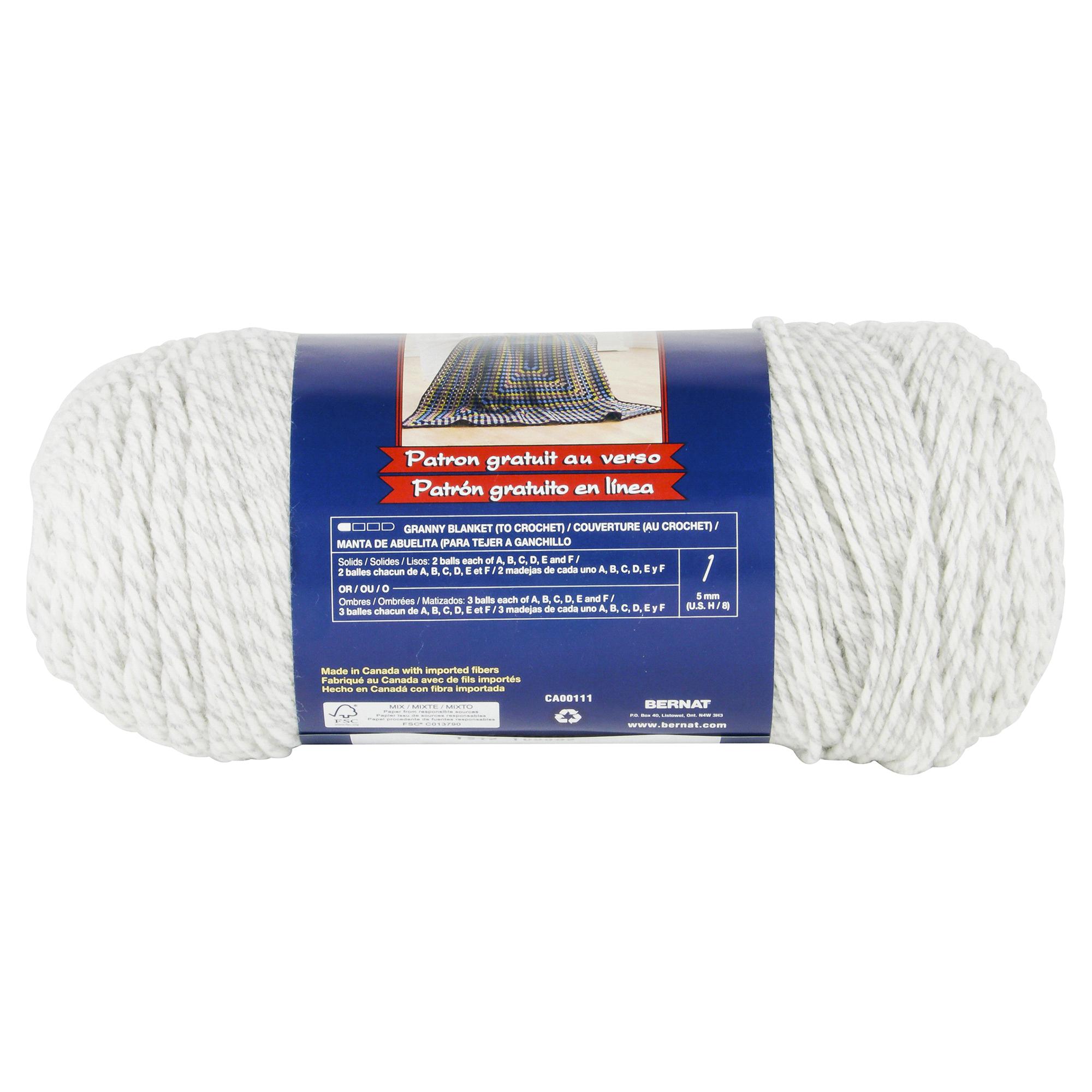 Bernat Super Value Yarn - Grey Ragg | Meijer.com