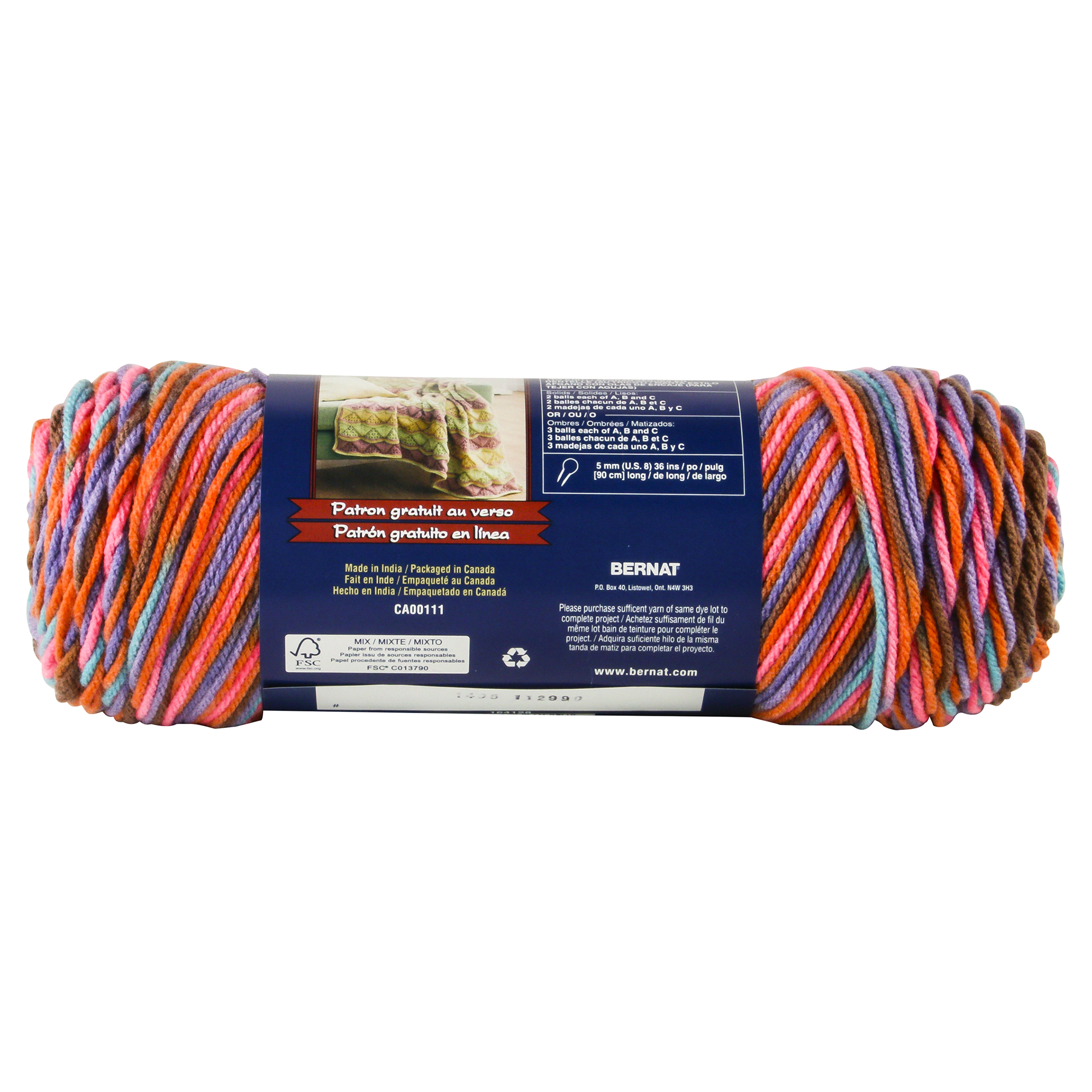 Bernat Super Value Yarn - Sedona Sunset Ombre | Meijer.com
