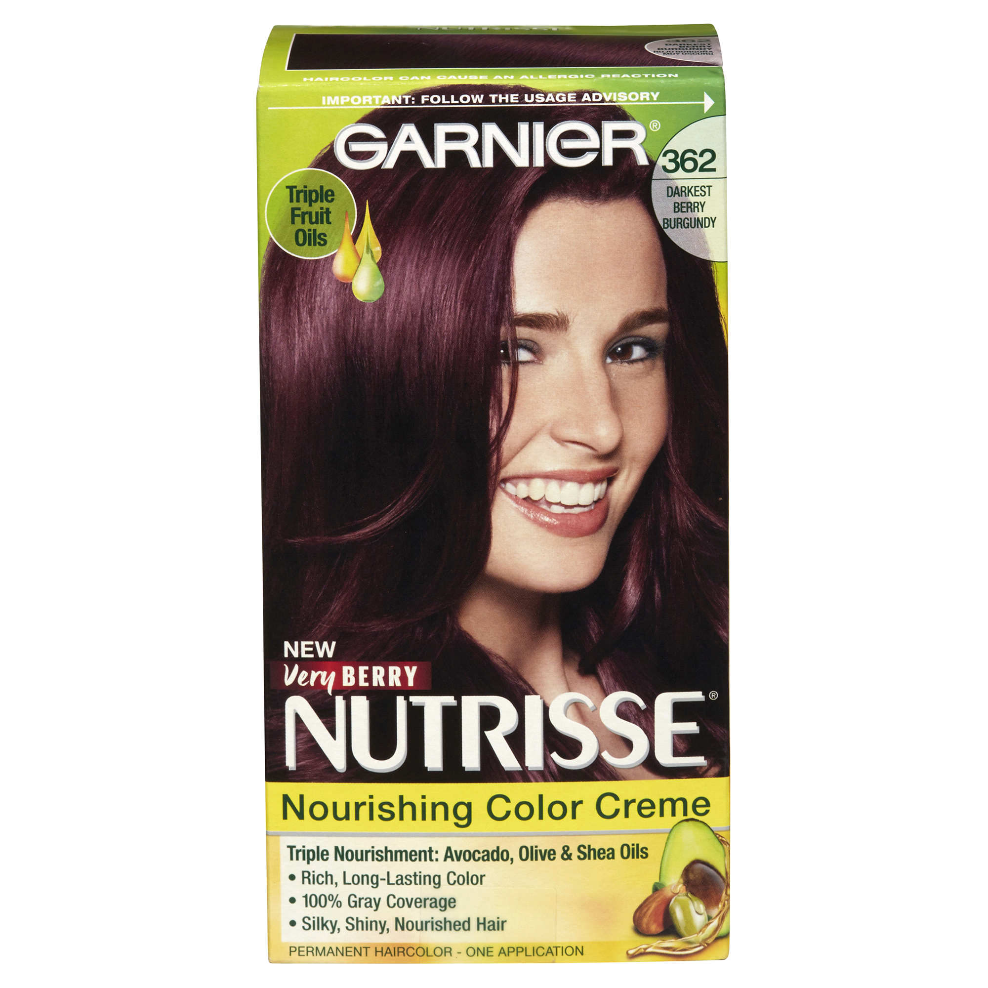Garnier Nutrisse Nourishing Color Creme Darkest Berry Burgundy 362