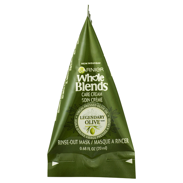 Garnier Whole Blends Care Cream Hair Mask Legendary Olive 0.68 oz ...