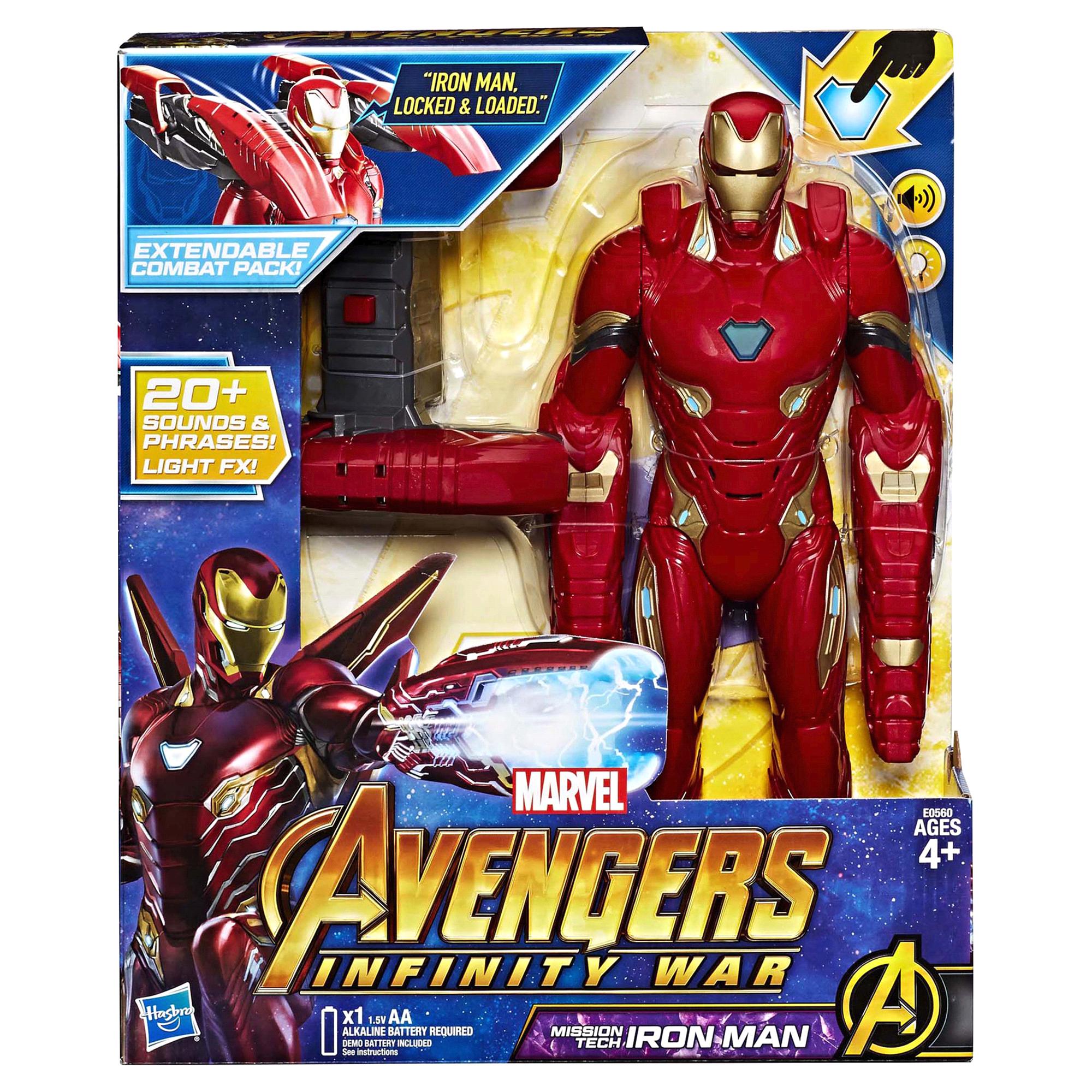 Marvel Avengers Infinity War Mission Tech Iron Man Figure Ironman Red Tees