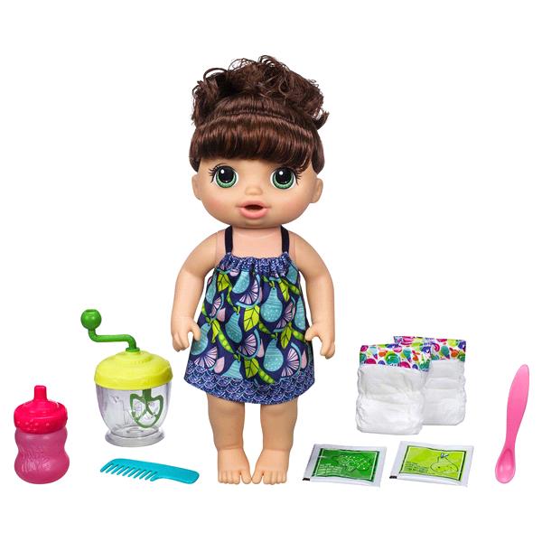 Baby Alive Sweet Spoonfuls Baby Doll Girl Brown Curly Hair Meijercom