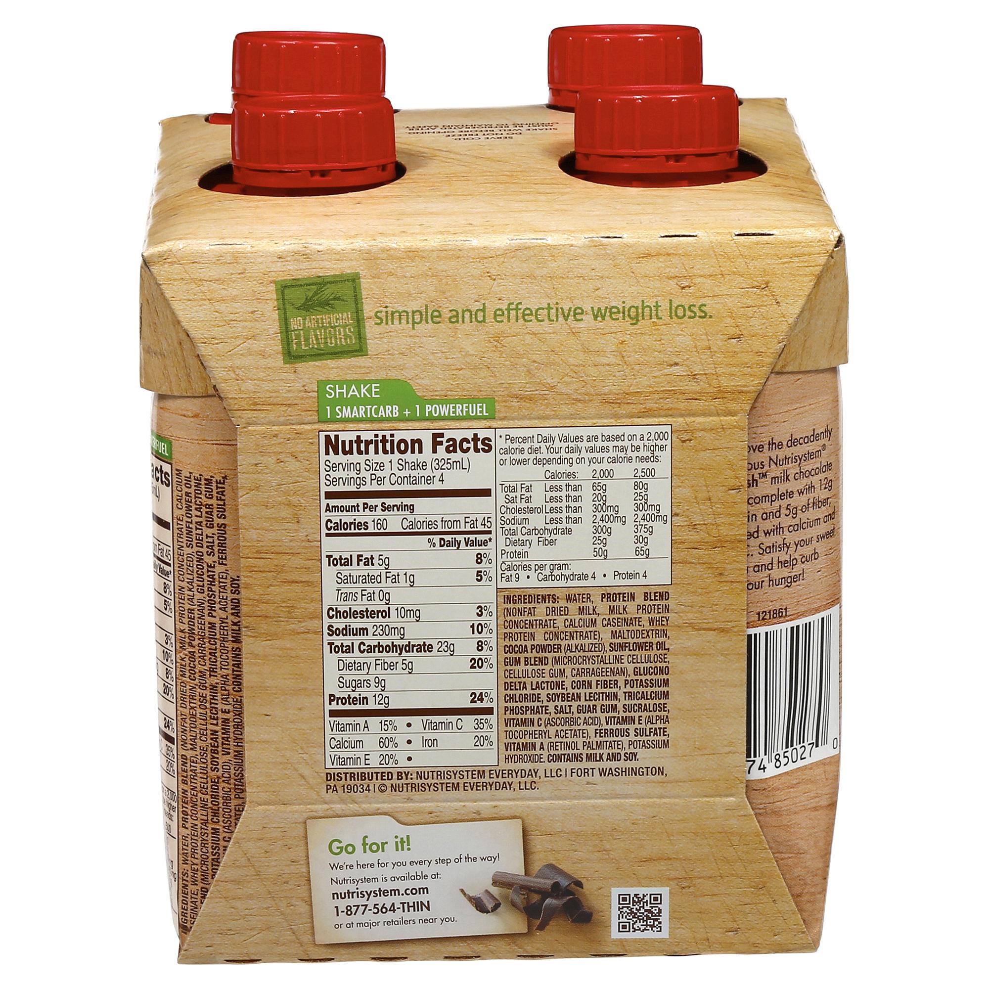 Nutrisystem Nutricrush Chocolate Shake 4 Pack Meijer Com