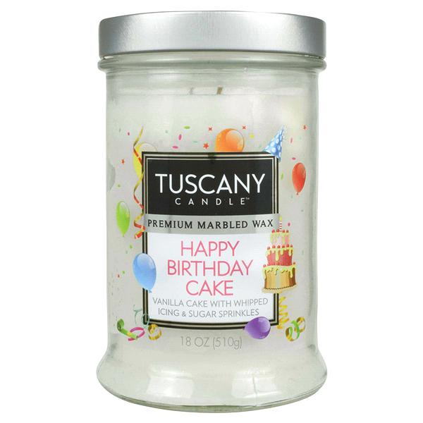 Tuscany Jar Candle Happy Birthday Cake 18 Oz