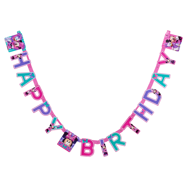 Minnie Mouse Bowtique Birthday Party Banner