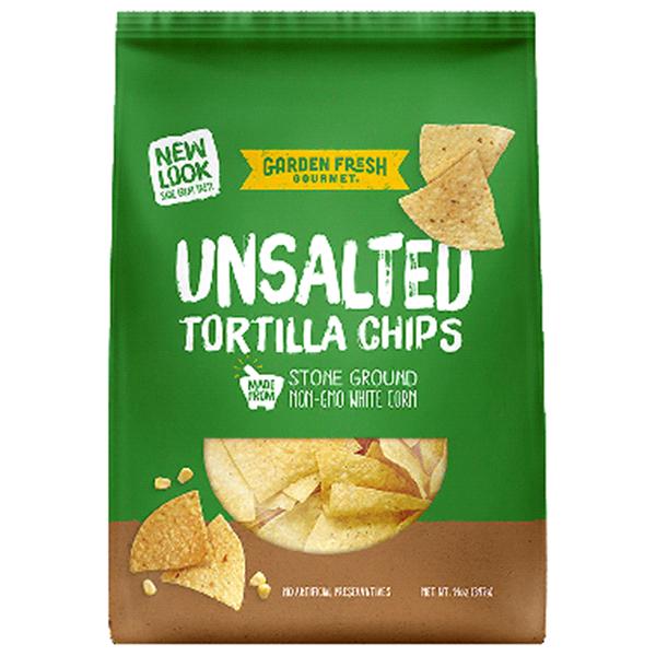 Garden Fresh Gourmet Kettle Style Chips Unsalted Tortilla Chips 14 ...