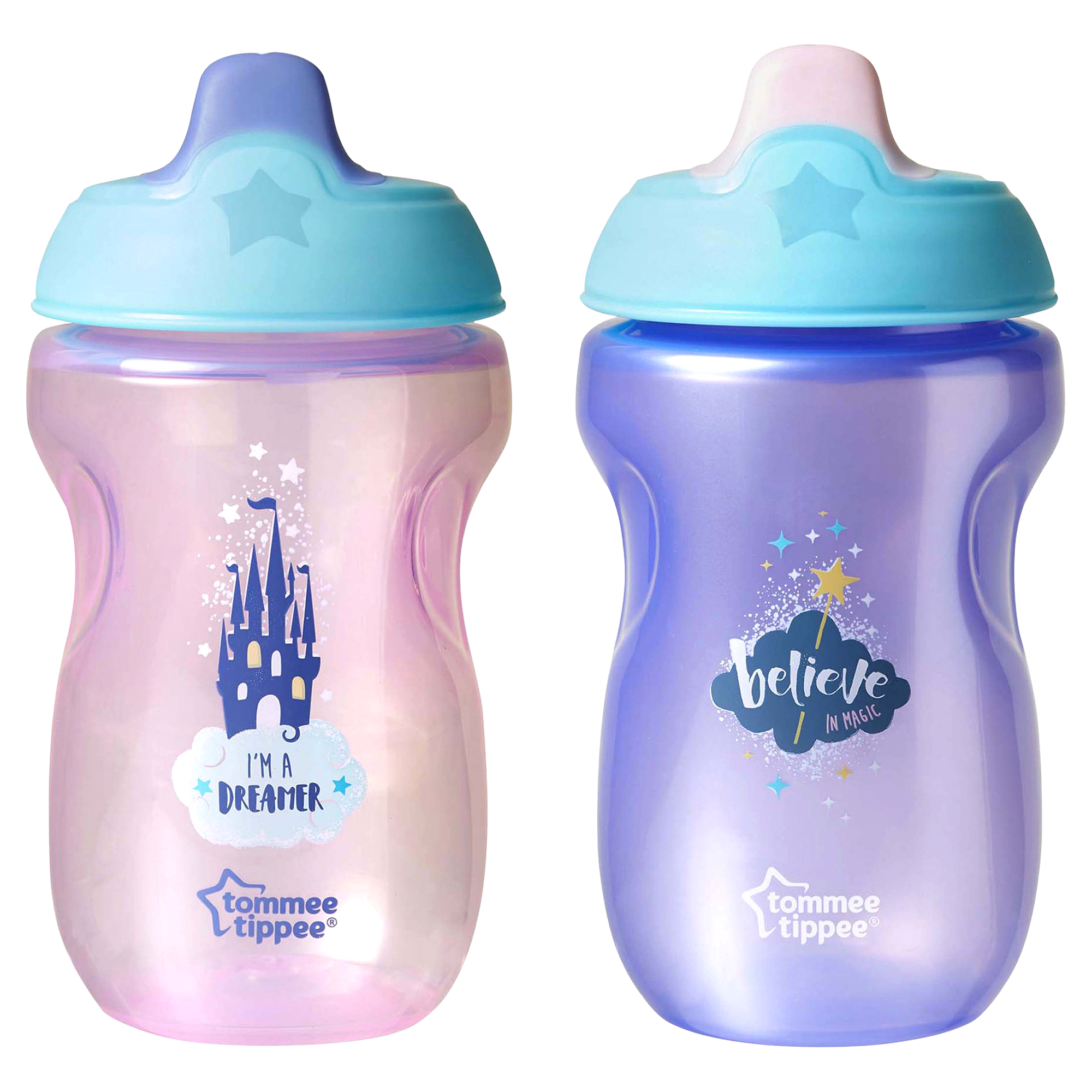 Tommee Tippee Trainer Sippy Cup 2 Pk 10 Oz Baby Scissor With Cover