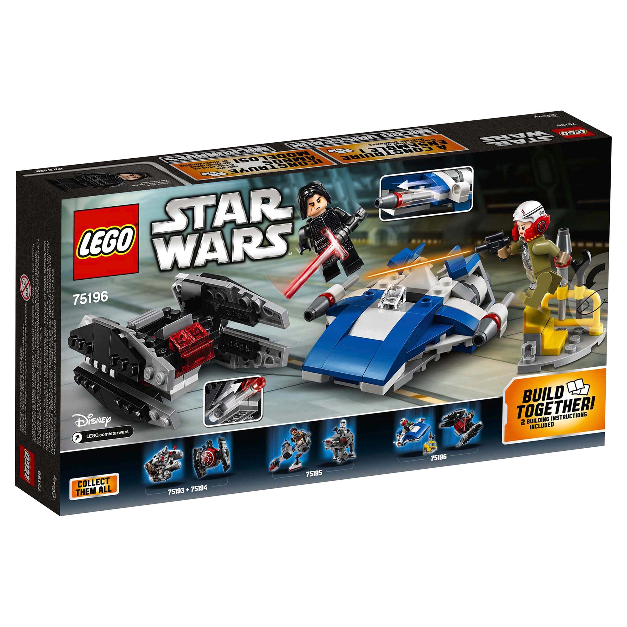 Legor Star Wars Tm A Wing Tm Vs Tie Silencer Tm Microfighters