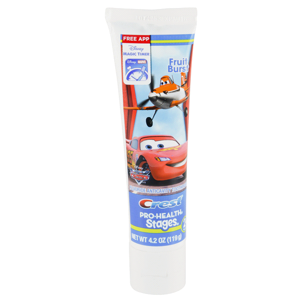 Crest Pro Health Stages Kids Toothpaste Featuring Disney Pixar Cars
