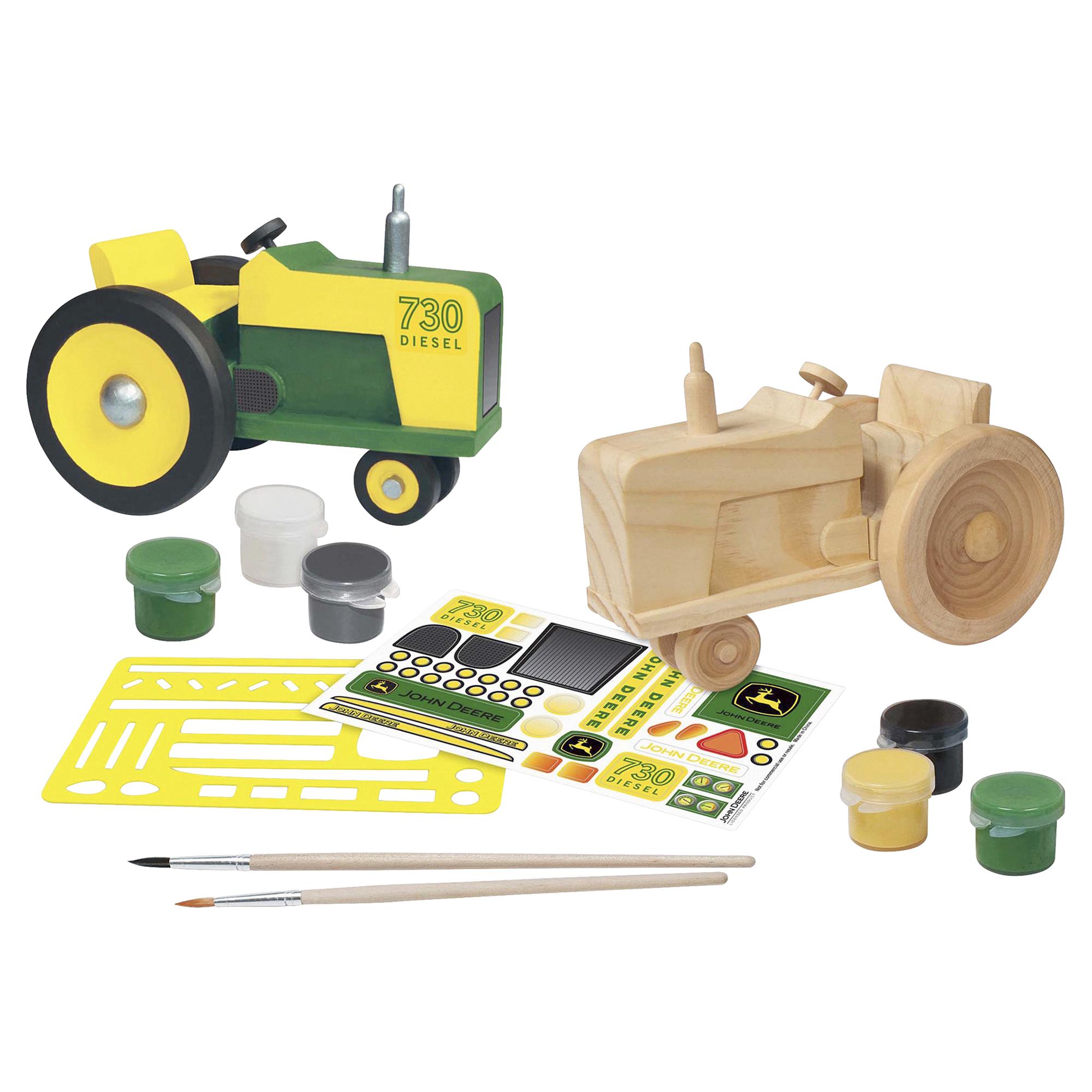 John Deere Classic Tractor Wood Craft & Paint Kit   Meijer.com