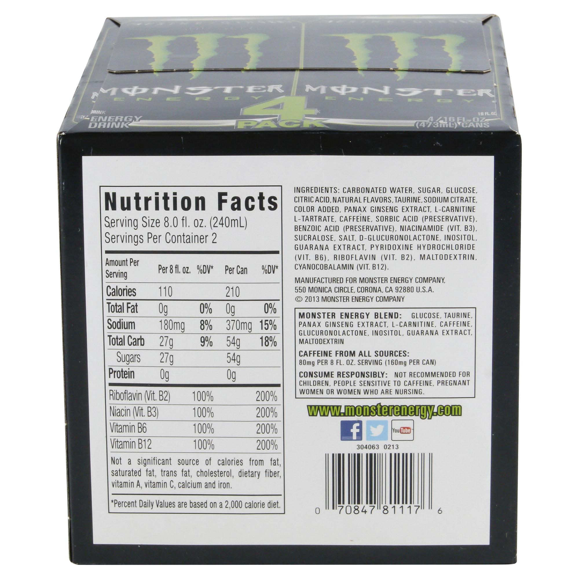 monster energy 16 oz. 4 pk. cans | meijer