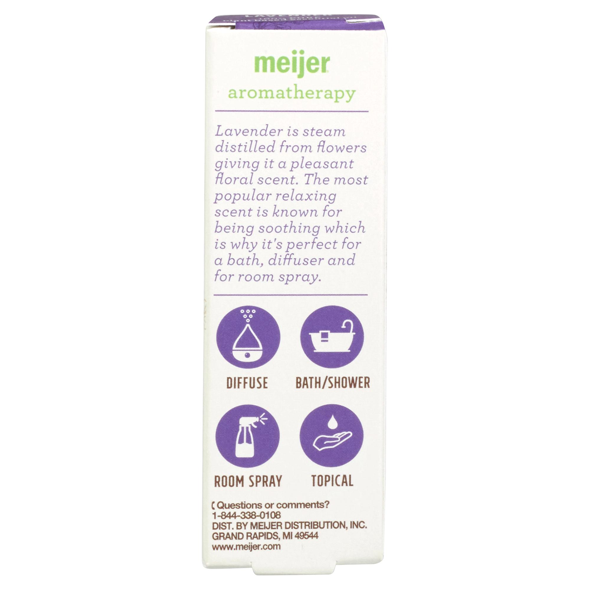 Meijer Lavender Oil 15 Ml Bubble Bath Foam Aromatherapy Pure Organic French Essential Rose