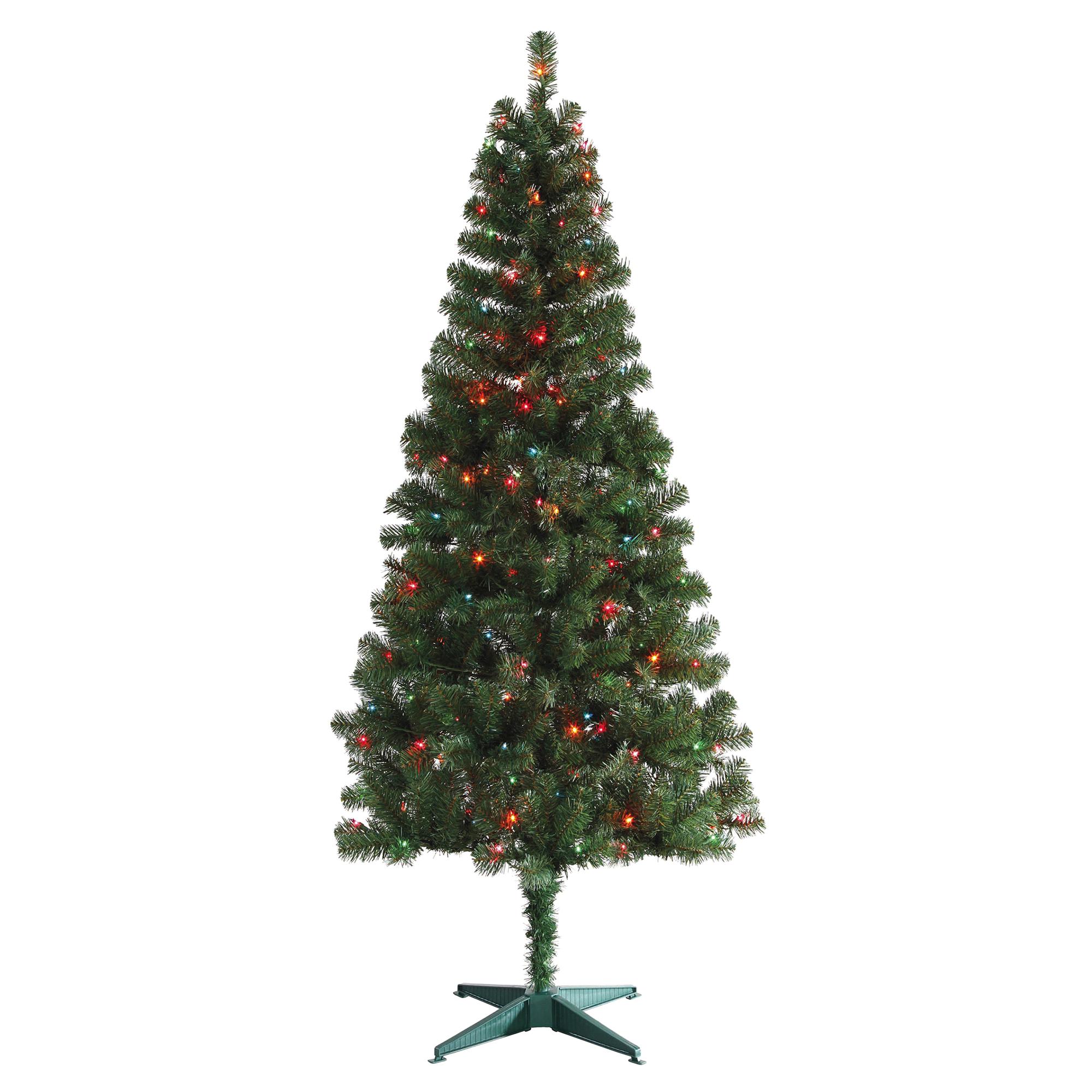 december home 6 tacoma pine pre lit christmas tree multi color lights meijercom - Pine Christmas Tree