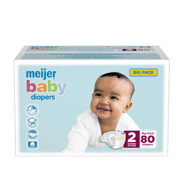 b912c8e3e Meijer Baby Diapers Big Pack Size 2 80ct