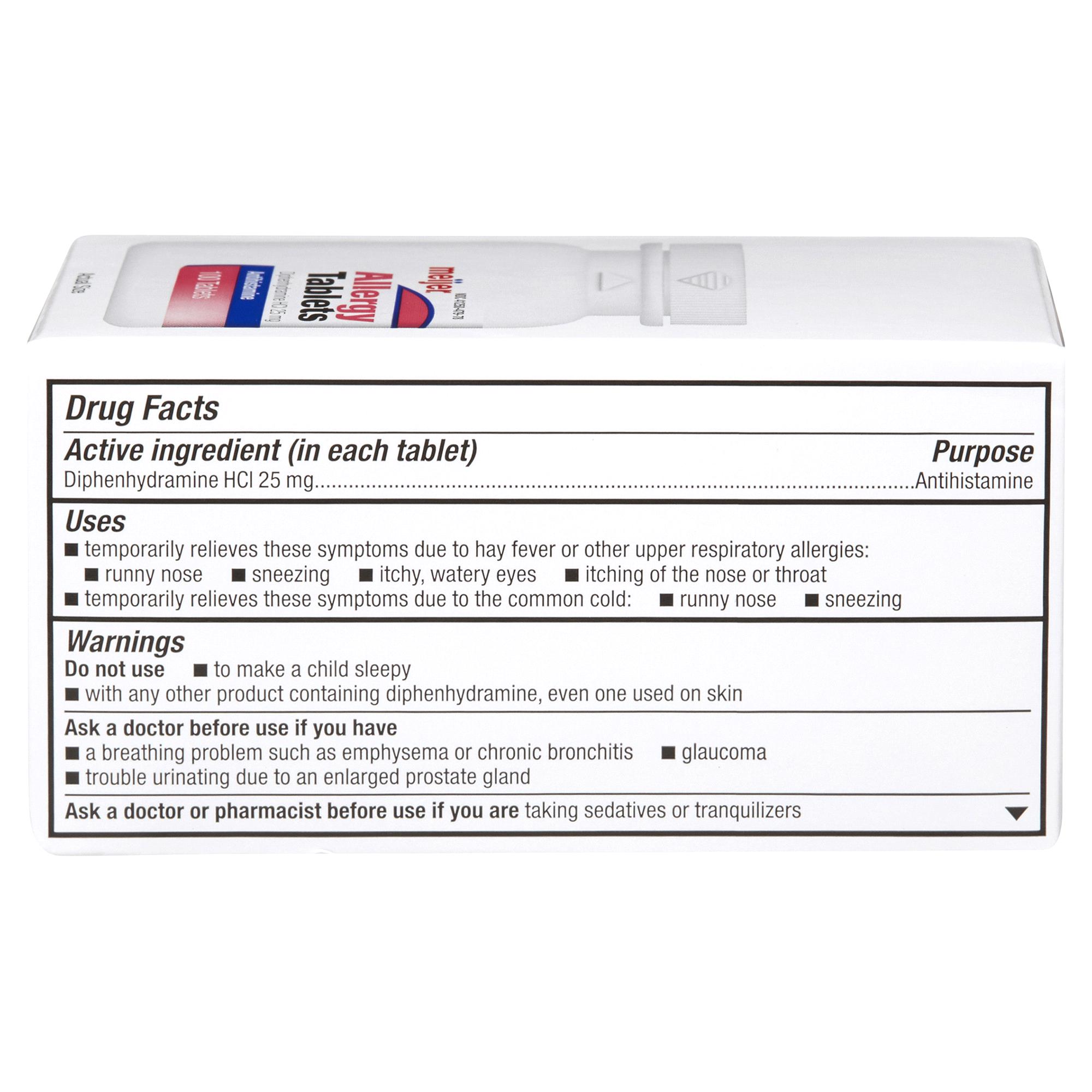 Meijer Antihistamine Allergy Tablets 100 ct | Meijer.com