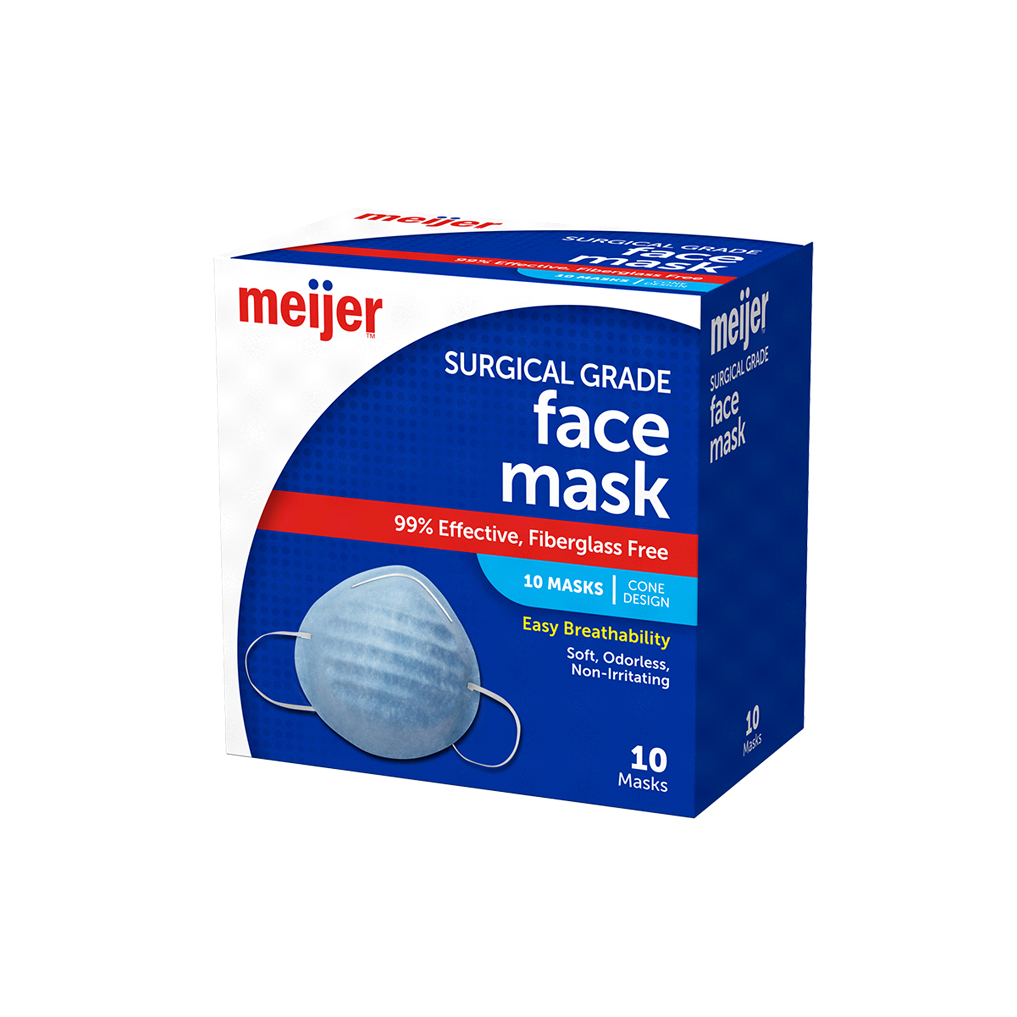 Meijer Surgical Cone Style Face Mask 10 Masks   Meijer.com
