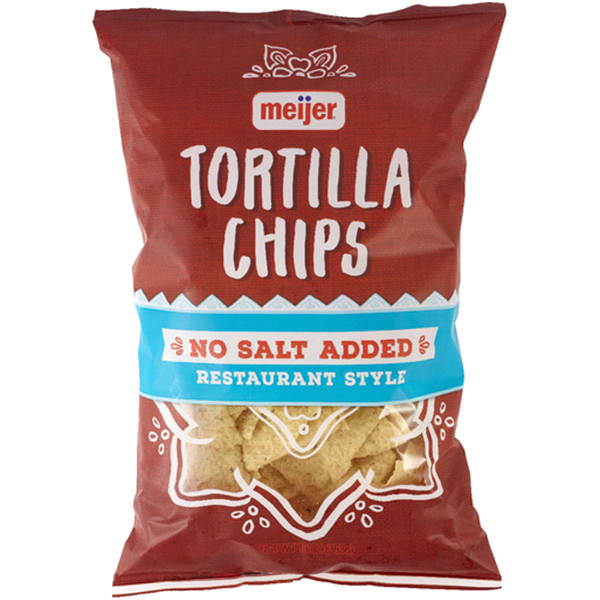 meijer no salt tortilla chips 125 oz