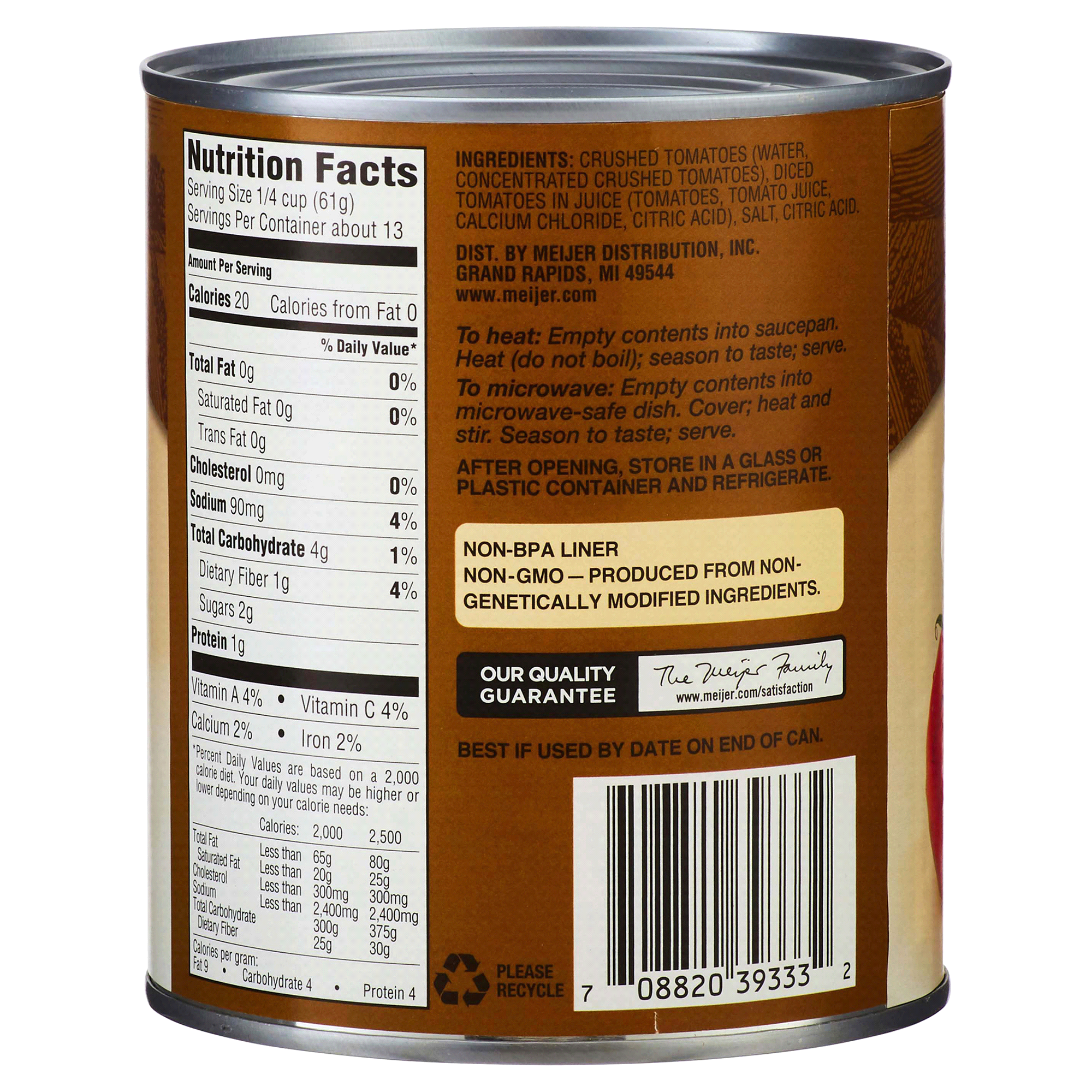 Meijer Crushed Tomato in Puree Low Sodium 28 oz | Meijer.com