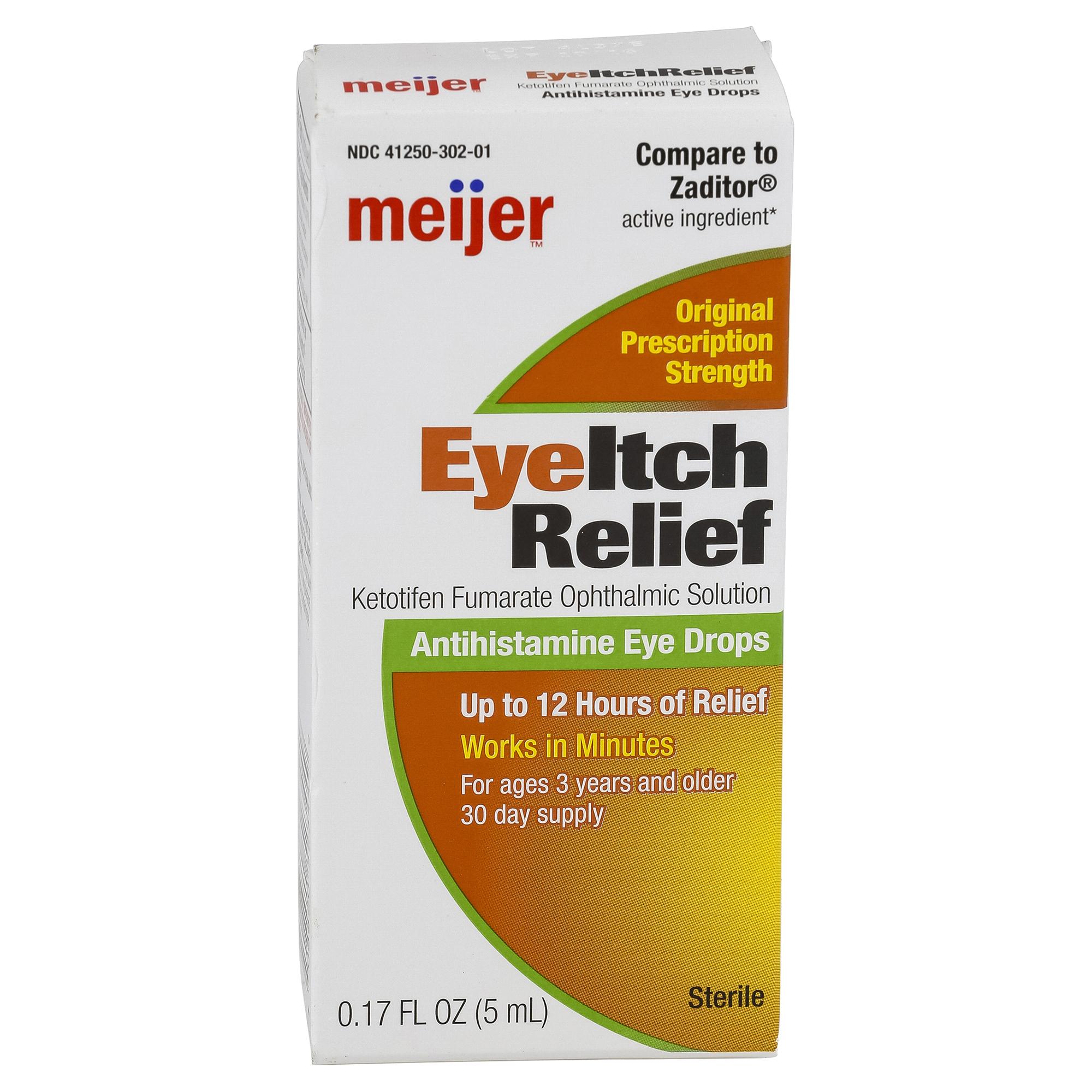 Meijer Eye Itch Relief Antihistamine Eye Drops 0.17 oz   Meijer.com