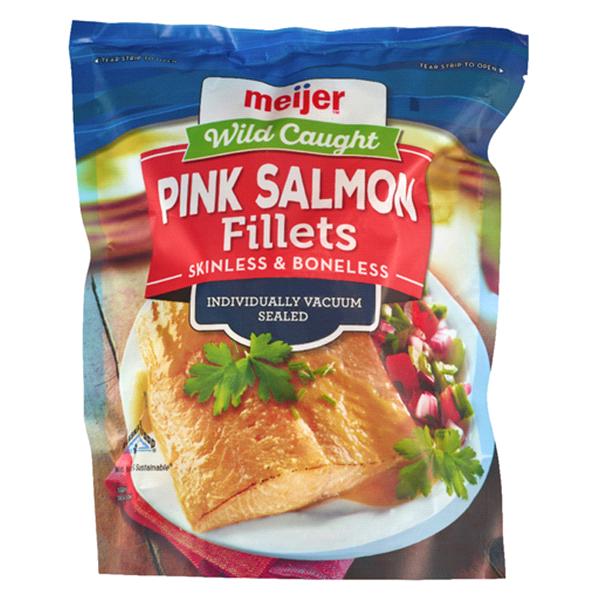 Meijer Wild Pink Salmon Filet Portions 16 Oz Meijer