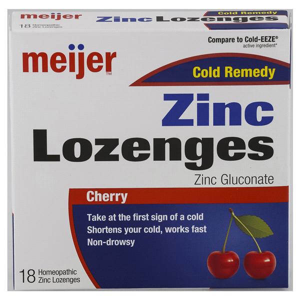 Meijer Zinc Lozenges Cherry 18 Ct Meijer Com