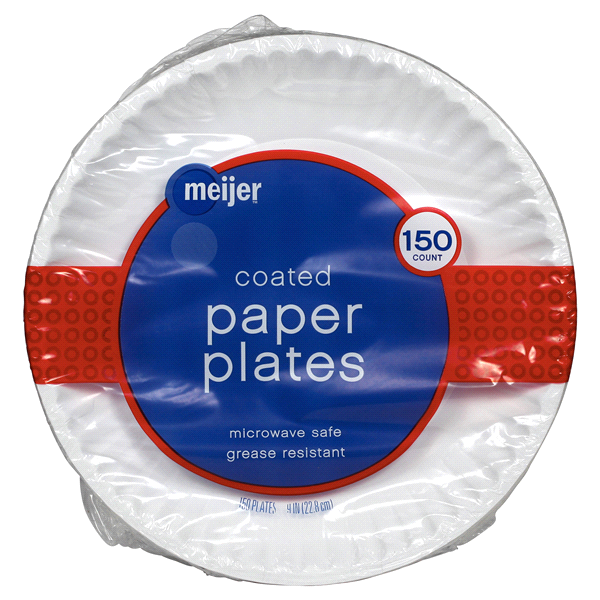 Meijer Coated White Paper Plates 9 150ct  sc 1 st  Meijer & Meijer Coated White Paper Plates 9 150ct | Meijer.com