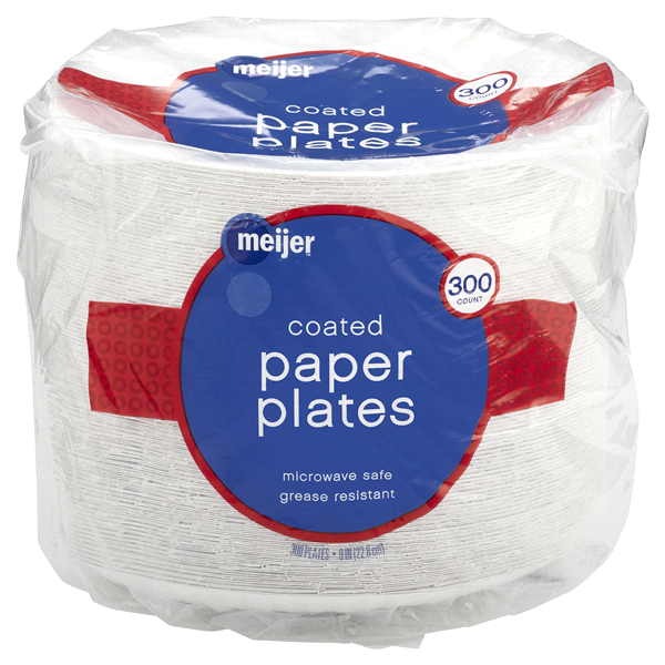 Meijer Coated White Paper Plates 9 300ct  sc 1 st  Meijer & Meijer Coated White Paper Plates 9 300ct | Meijer.com
