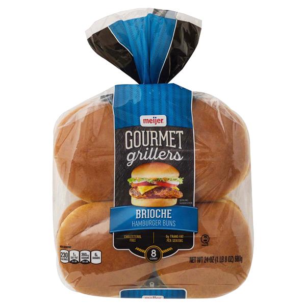 Meijer Gourmet Grillers Brioche Hamburger Buns