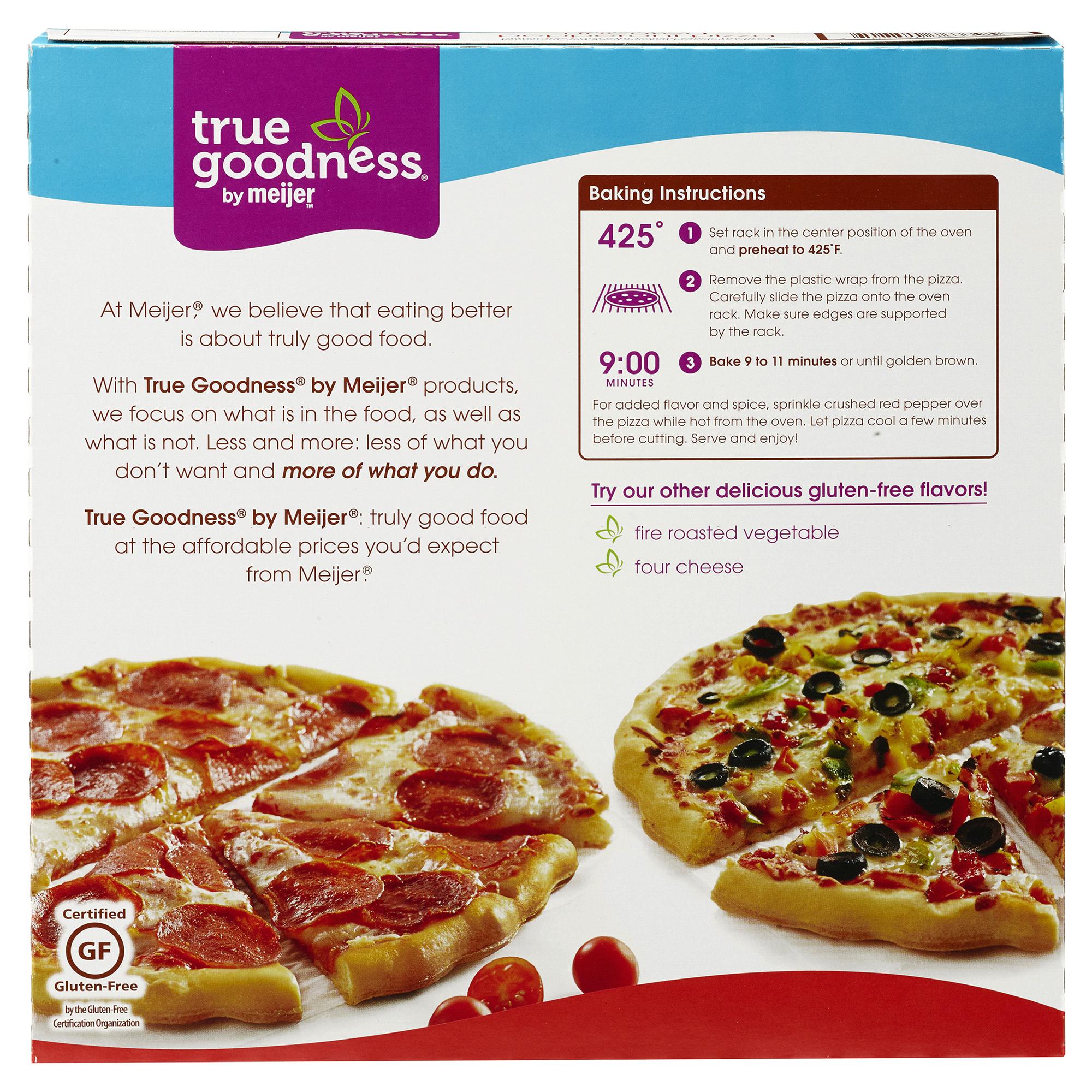 88b7fd70aab True Goodness Gluten-Free Uncured Pepperoni Pizza 13.28 oz