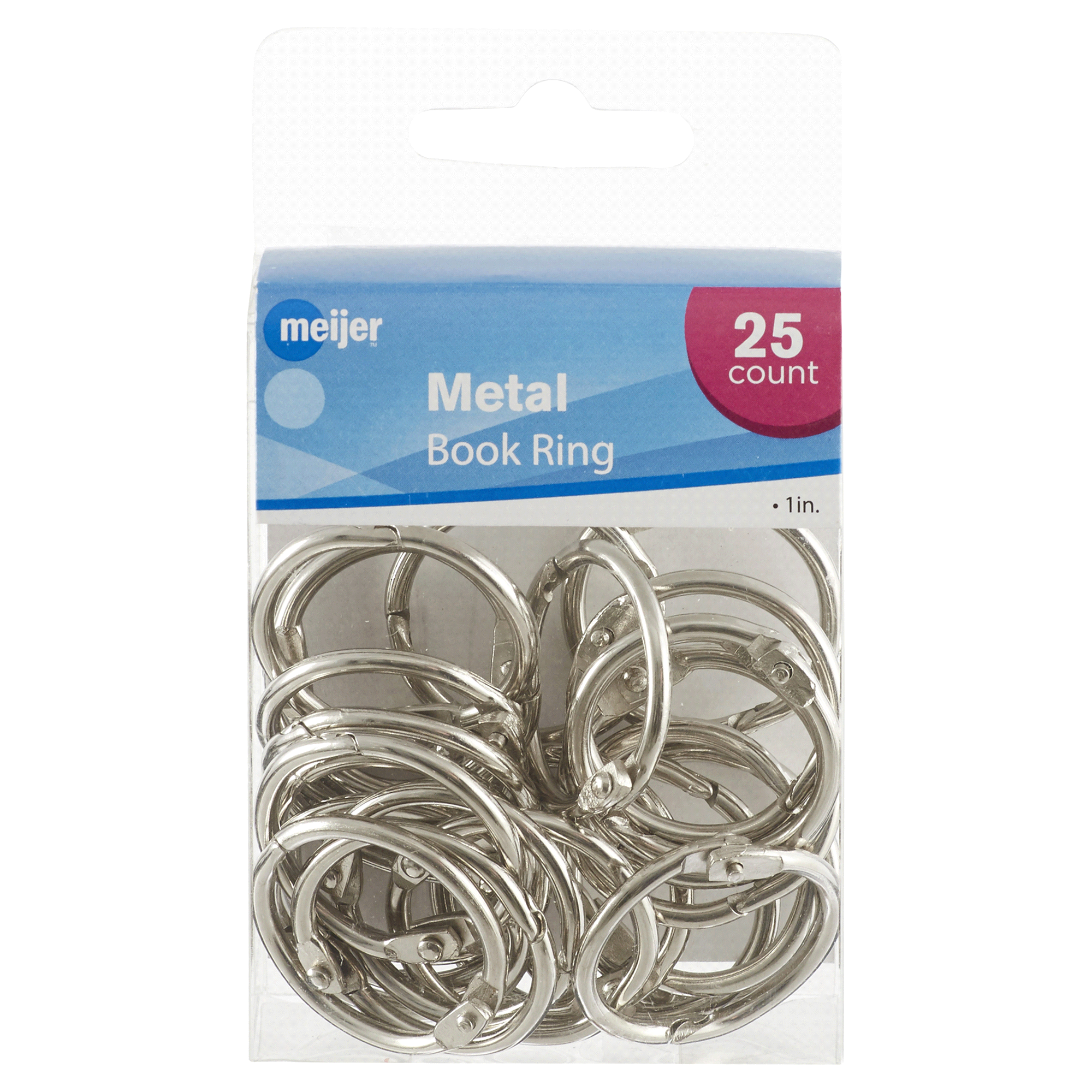 Meijer Metal Book Rings 1 25 Ct Wiring Harness Extension Socket Connector Ric Dryer Power Cord