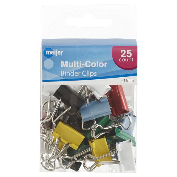 Meijer Multi-Color Binder Clips 19mm 25 ct | Meijer.com