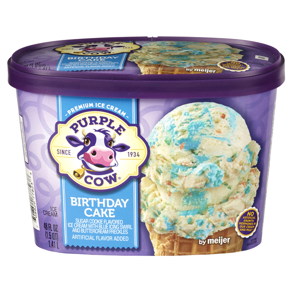 Purple Cow Birthday Cake Ice Cream 15 qt Meijercom