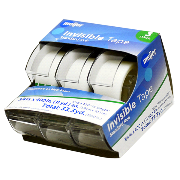 Bon Meijer Invisible Tape Standard Roll   3 Pack