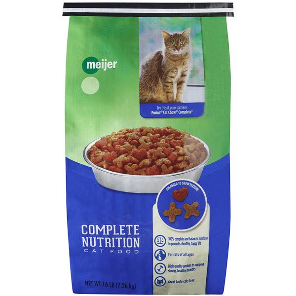 Meijer Complete Nutrition Dry Cat Food 16 Lb   Meijer.com