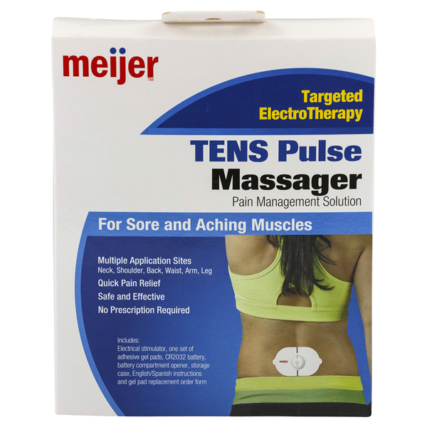 Back to Muscle Patches. Meijer Tens Pulse Massager