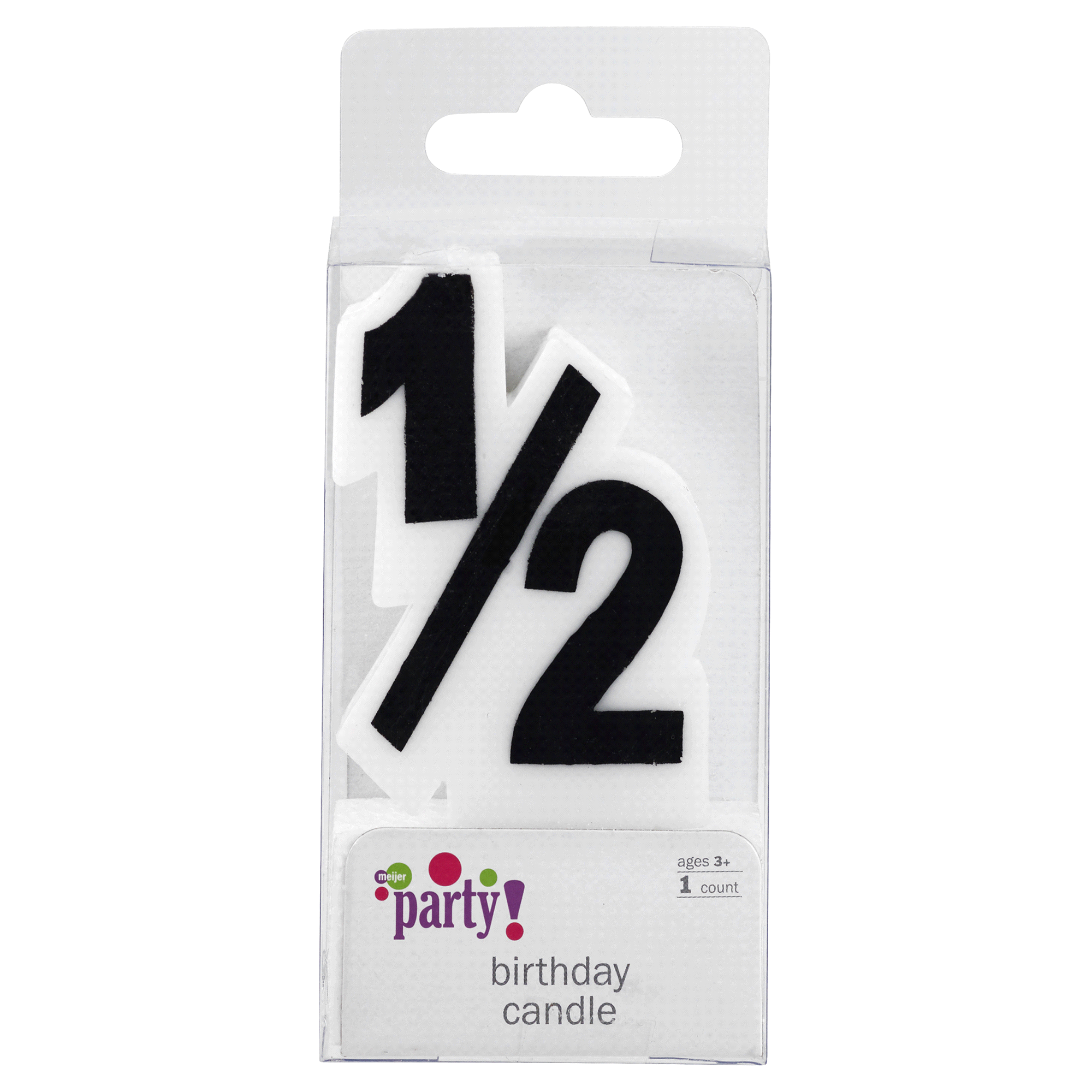 Meijer Extra Large Birthday Candle Number 1 2