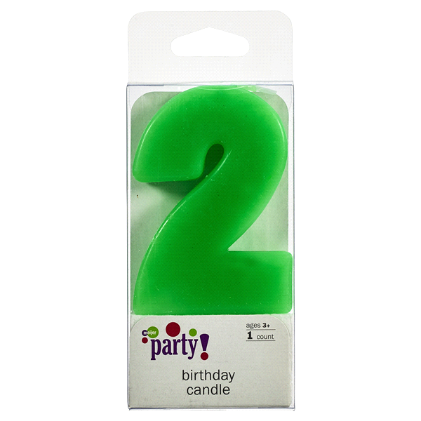 Meijer Extra Large Birthday Candle Number 2