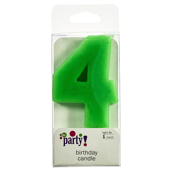 Meijer Extra Large Birthday Candle Number 4