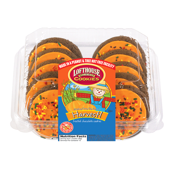 Lofthouse Orange Frosted Sugar Chocolate Cookies 10 Count Meijer Com