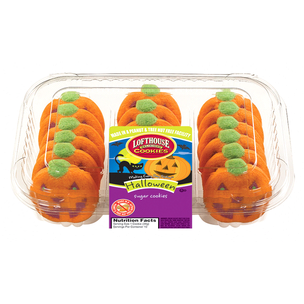 Lofthouse Pumpkin Harvest Sugar Cookies 18 Count Meijer Com