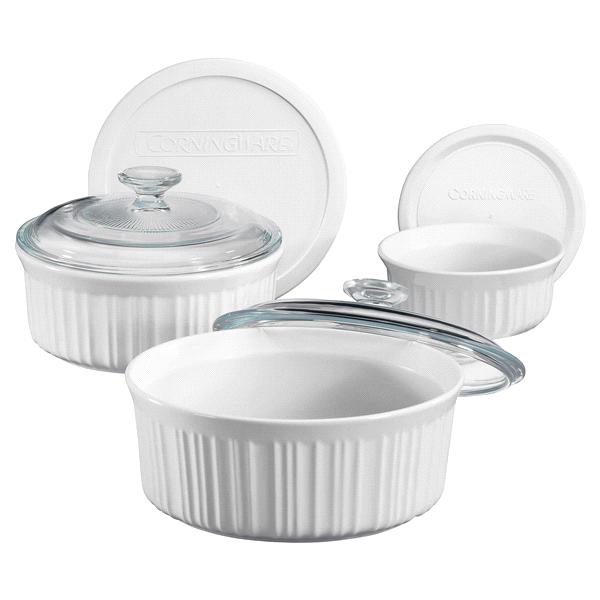 Corningware French White 6 Piece Bakeware Set Meijercom