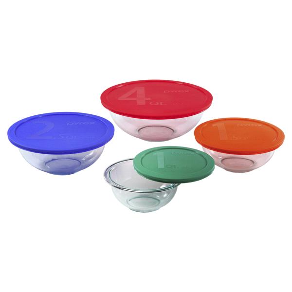 Pyrex® Smart Essentials® 8-Pc Mixing Bowl Set | Meijer.com