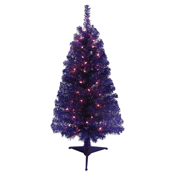 december home 4 pre lit purple tinsel christmas tree meijercom