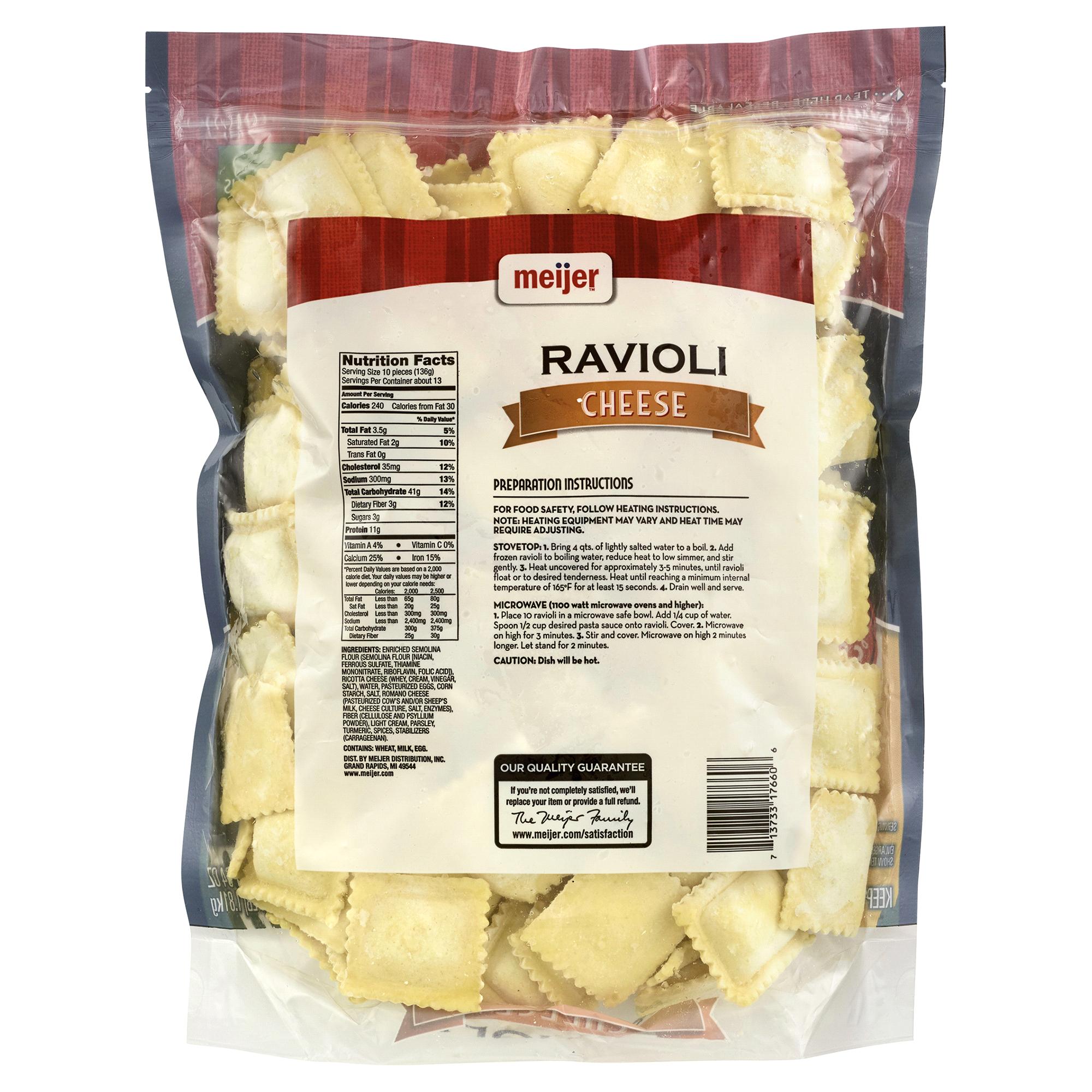 Meijer Cheese Ravioli - 64 oz. | Meijer.com