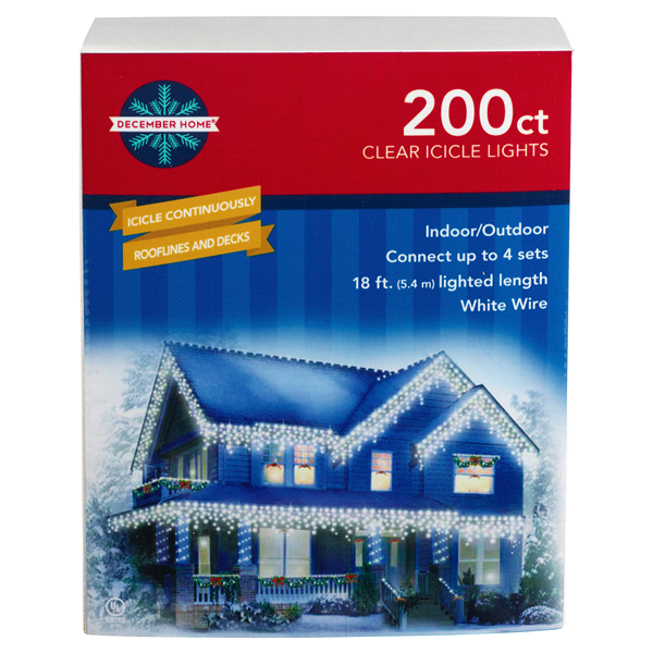 13ed02e446f 200 Clear Icicle Lights