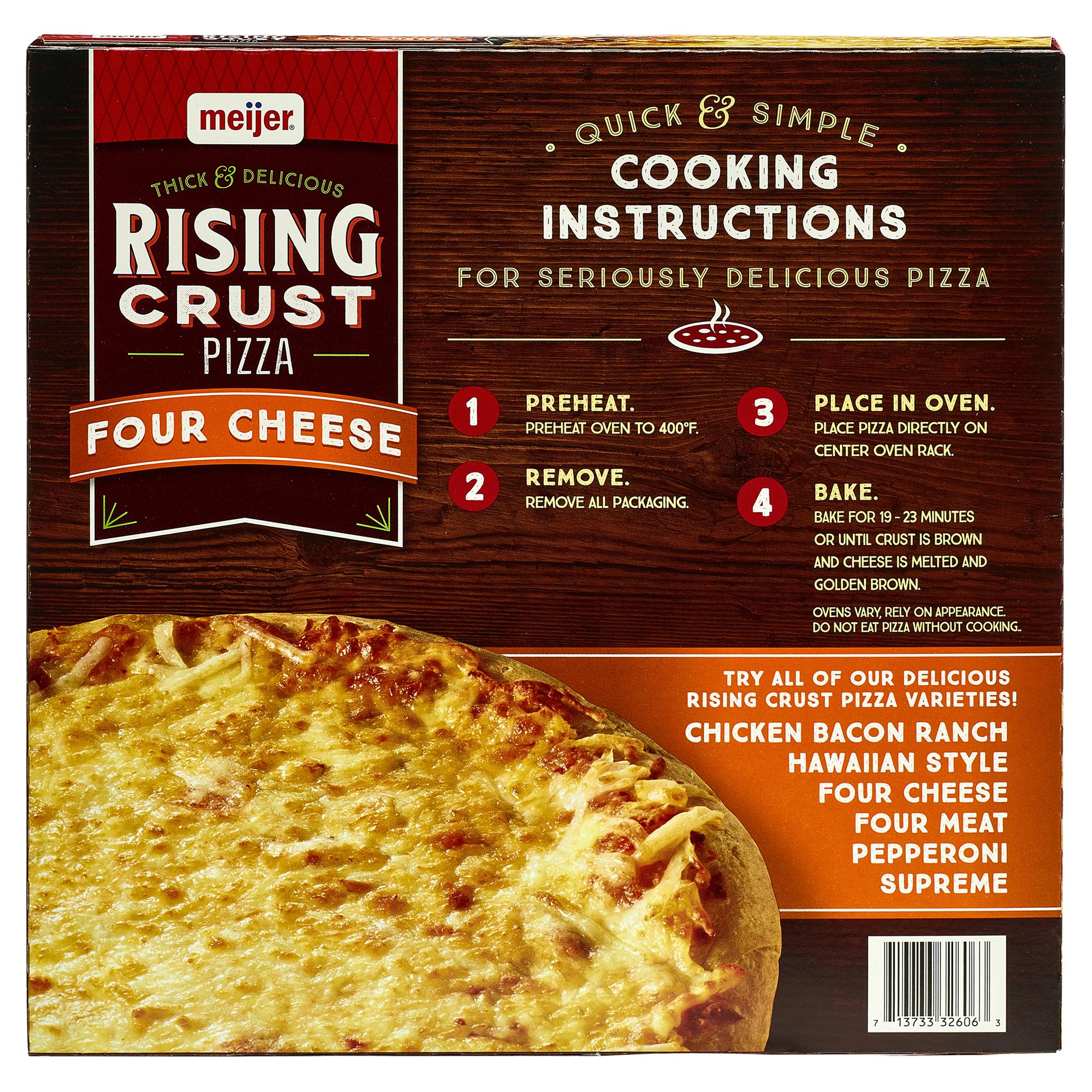 Meijer Rising Crust Four Cheese Pizza 28.2 oz. | Meijer.com